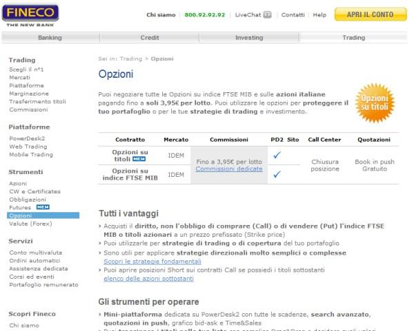 Fineco forex costi